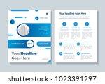 annual report  broshure  flyer  ... | Shutterstock .eps vector #1023391297