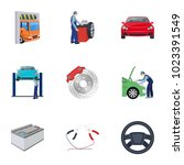 car  lift  pump and other... | Shutterstock . vector #1023391549