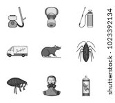 pest  poison  personnel and... | Shutterstock . vector #1023392134