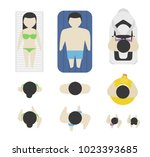 set of people from above  top... | Shutterstock .eps vector #1023393685