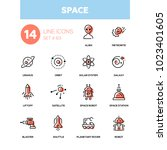space concept   line design... | Shutterstock .eps vector #1023401605