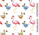 wonderland seamless texture...   Shutterstock . vector #1023405061