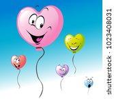 love heart shape colorful... | Shutterstock .eps vector #1023408031