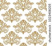 vector vintage baroque card.... | Shutterstock .eps vector #1023408205