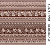 abstract ethnic stripy... | Shutterstock .eps vector #1023417541