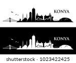 konya skyline   turkey   vector ... | Shutterstock .eps vector #1023422425