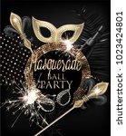 elegant masquerade party... | Shutterstock .eps vector #1023424801