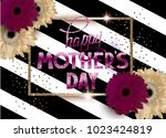 mother's day invitation card...   Shutterstock .eps vector #1023424819
