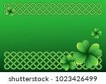 rich green saint patrick's day... | Shutterstock .eps vector #1023426499