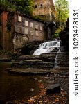 Small photo of An autumn glance at the long abandoned Van Nattas Pumping Station and mill at Wells Falls in Ithaca, New York.
