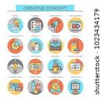 creative concept. set of vector ... | Shutterstock .eps vector #1023434179