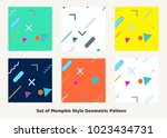 hipster fashion memphis style...   Shutterstock .eps vector #1023434731