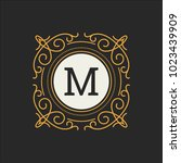 luxury logo vector template for ... | Shutterstock .eps vector #1023439909