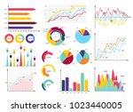 set elements of infographics.... | Shutterstock .eps vector #1023440005
