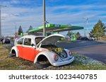 budapest  hungary   december 23 ... | Shutterstock . vector #1023440785