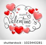 valentines day sale background. ... | Shutterstock .eps vector #1023443281