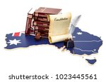 constitution of australia... | Shutterstock . vector #1023445561