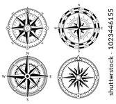 wind rose retro design vector... | Shutterstock .eps vector #1023446155
