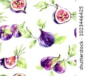 seamless pattern figs and... | Shutterstock . vector #1023446425