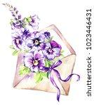 watercolor illustration.... | Shutterstock . vector #1023446431