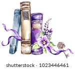 watercolor illustration. a pile ...   Shutterstock . vector #1023446461