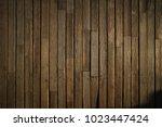 wooden texture. old terrace... | Shutterstock . vector #1023447424