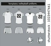 a form template for volleyball... | Shutterstock .eps vector #1023447661