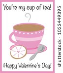 you are my cup of tea valentine | Shutterstock .eps vector #1023449395
