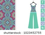 fashion art collection  vector... | Shutterstock .eps vector #1023452755