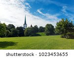 panorama of toompea green hills ... | Shutterstock . vector #1023453655