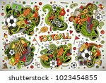 colorful vector hand drawn... | Shutterstock .eps vector #1023454855