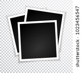 retro photo frame with shadows. ... | Shutterstock .eps vector #1023456547