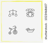 baby care line icon set... | Shutterstock .eps vector #1023468607