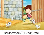 Illustration Of Kittens In A...