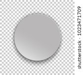 realistic gray circle paper... | Shutterstock .eps vector #1023471709