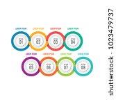 various infographic element for ... | Shutterstock .eps vector #1023479737