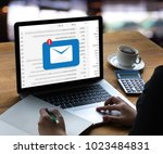 mail communication connection... | Shutterstock . vector #1023484831