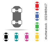 the skateboard icon. element of ... | Shutterstock .eps vector #1023485617