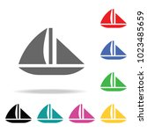 yacht icon. element of sport... | Shutterstock .eps vector #1023485659