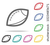 rugby ball icon. element of... | Shutterstock .eps vector #1023485671
