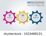 vector infographic template for ... | Shutterstock .eps vector #1023488131