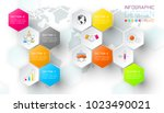business hexagon net labels... | Shutterstock .eps vector #1023490021