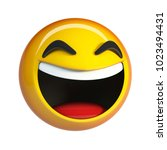 lol emoji. laughing face... | Shutterstock . vector #1023494431