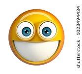 smiling emoji. 3d rendering... | Shutterstock . vector #1023494434
