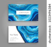 vector business card template... | Shutterstock .eps vector #1023496384