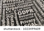 gdpr word collage background... | Shutterstock . vector #1023499609