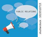 public relations. vector... | Shutterstock .eps vector #1023510715