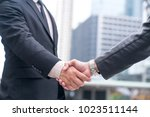 business handshake. businessman ... | Shutterstock . vector #1023511144