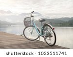 bicycle with the beautiful view ... | Shutterstock . vector #1023511741