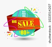 best price ever big sale banner.... | Shutterstock .eps vector #1023514207